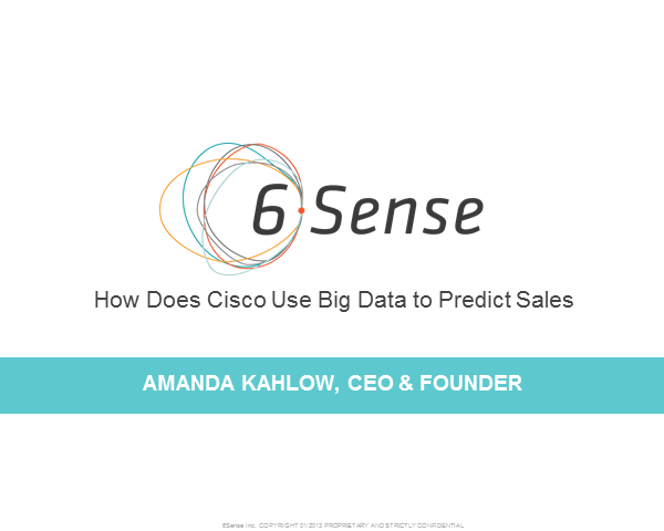 How Does Cisco Use Big Data to Predict Sales?