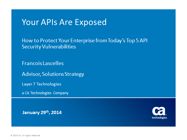Your APIs Are Exposed: Avoiding the Top 5 API Security Vulnerabilities