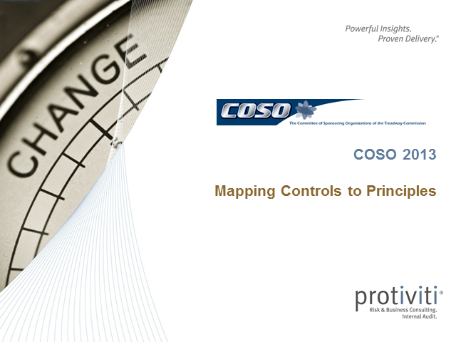 COSO 2013: Mapping Controls to Principles