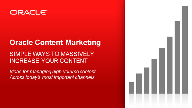 Managing high volume marketing content across multiple channels
