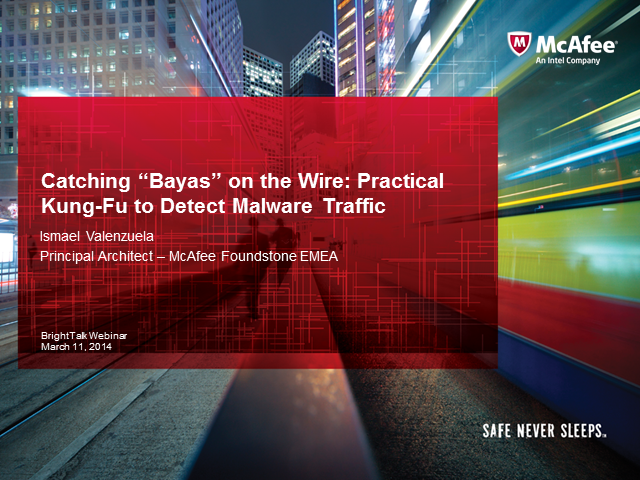 "Catching ""Wire-Bayas"": Practical Kung-Fu to Detect Malware Traffic"