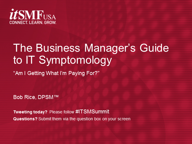 The Business Manager's Guide to IT Symptomology