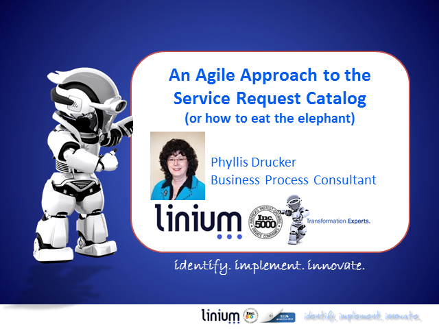 An Agile Approach to the Service Request Catalog