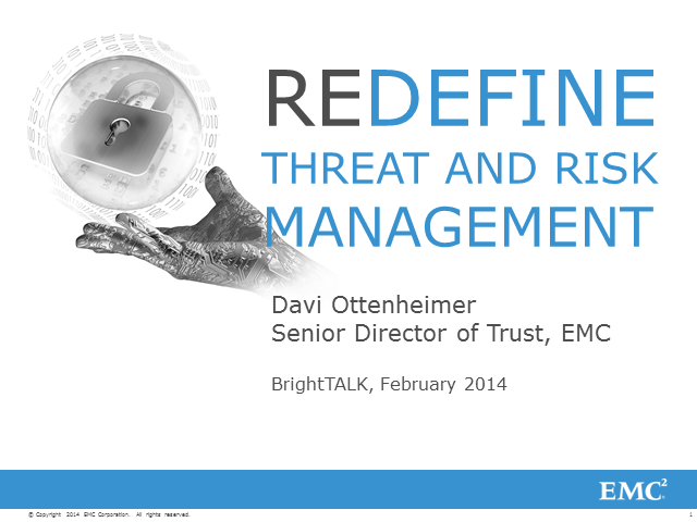 Redefine Threat and RIsk Management