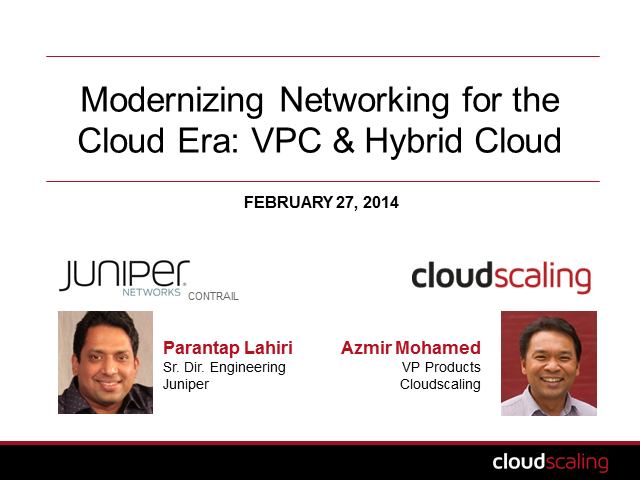 Modernizing Networking for the Cloud Era: VPC and the Hybrid Cloud