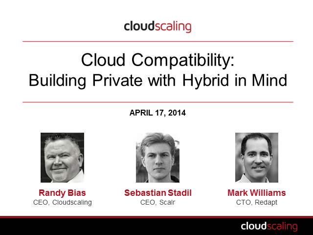 Cloud Compatibility: Developing Private with Hybrid in Mind