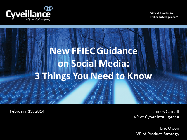 New FFIEC Guidelines on Social Media: 3 Things You Need to Know