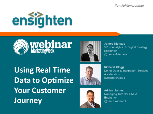 Using real time data to optimize your customer journey