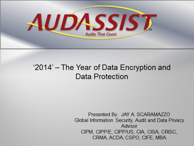 2014 – the Year of Data Encryption and Data Protection