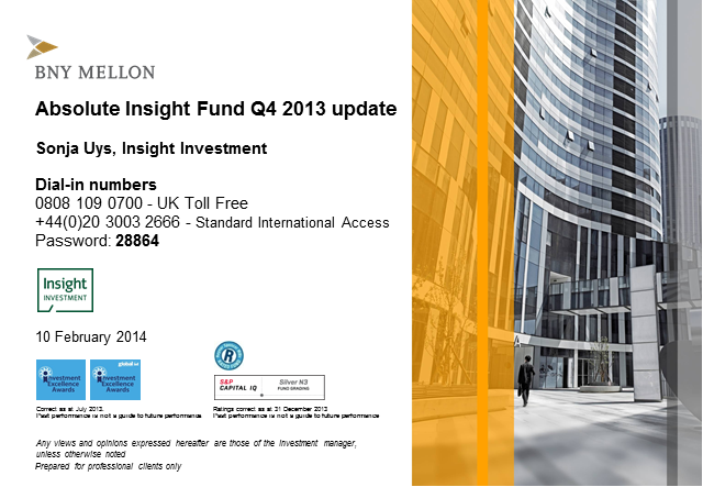 Absolute Insight Fund update