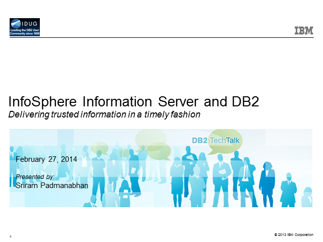 Use InfoSphere Information Server with DB2 for Data Integration and Governance