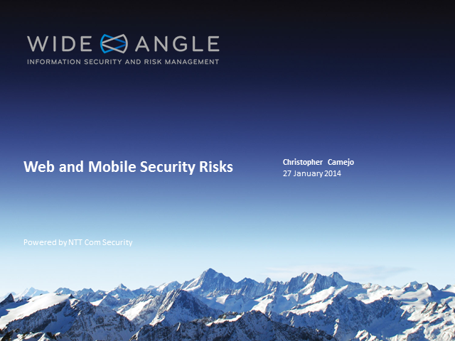 Securing your Applications - from Web to Mobile