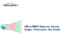VDI or RDS? Balancing Security, Budget, Performance and Mobility