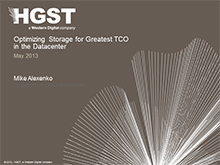 Optimizing Storage for Greatest TCO in the Datacenter