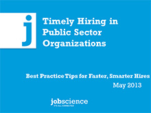 Timely Hiring in Public Organizations