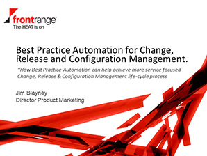 Automated Infrastructure Control of Change, Configuration and Release Management